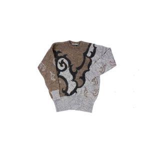 Vintage 1980's Escada Mohair Swirl Print Sweater
